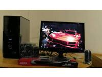 """FAST Dell XPS 430 MINECRAFT Quad Core Gaming Desktop Computer PC With Samsung Red Line 23"""""""