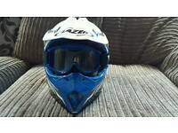 Moto x motocross Motorbike carbon fibre helmet Lazer mx8