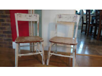 2 vintage childrens chairs