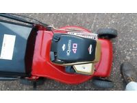 Briggs and Stratton push petrol lawnmower