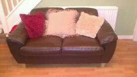 Half moon shape sofa and 2 seater