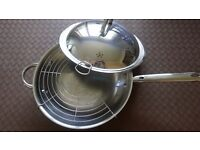 Jean Patrique Professional 18/10 Stainless Steel Wok