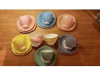 Vintage Colclough Bone China Harlequin 20 piece Tea Set