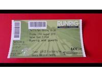 Runrig ticket