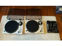 2 No.GEMINI XL-500 DIRECT DRIVE TURNTABLES BOXED