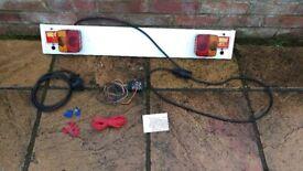 Trailer lighting board and full wiring kit