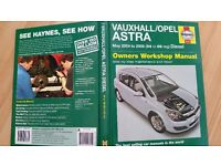 Owners workshop manual for Vauxhall Astra