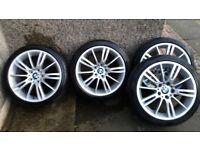 BMW mv3 alloys with tyres
