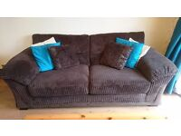 3 piece suite, 3 seat sofa and 2 chairs