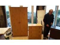 Matching wardrobe & chest of drawers