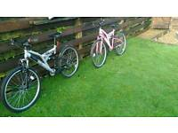 2 mountain bikes- his and hers