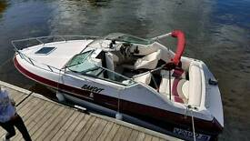 Boat Diesel Crownline cruiser. Twin axle trailer