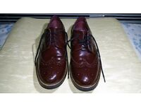 Mens Real Leather Burgundy / Dark Red Borges uk Size 8 EU 42