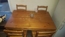 >>>>GRAB IT NOW!! 4 CHAIR WOOD DINING TABLE