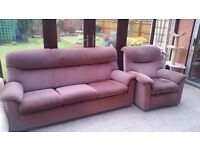 Parker Knoll Sofa and Reclining Chair - FREE