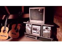 "Sharp 26"" TV & Stand + JVC HiFi + DvD Player/Recorder ***Great for Kids Room***"