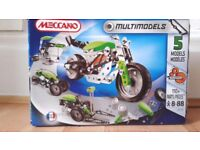 Meccano Multimodel set, all pieces there with a few spare.