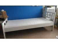 ikea toddler bed frame Kritter with mattress (160x70cm) white Leeds LS12