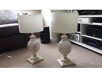 Two Solid Wood Lamps