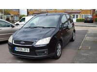 2006 Ford C-Max 1.6 Manual. Black. Diesel. 12 Months MOT