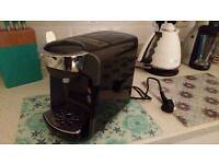Tassimo Coffee Machine - Black - As New with Costa Coffee PODs