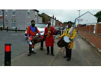 Bhangra Dhol players. musicians
