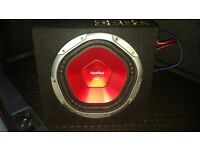 Car sub with amp 900 watts and speaker 1200 wats cheap
