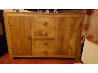 Solid oak sideboard mango wood.