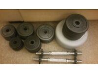 Dumbbells with weights Bargain