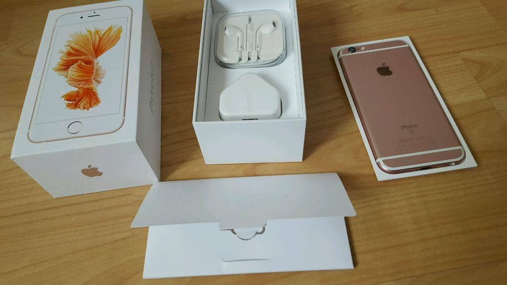Iphone 6s 64gb rose gold unlockedin Oldham, ManchesterGumtree - Iphone 6s 64gb rose gold unlocked to any network, comes with box charger earphones and case very good condition, full working order and no scratches no dents. Pick up only. NO OFFERS. Thanks