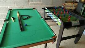 Fold away snooker table