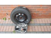 Golf MkIV Spare wheel with fitted unused tyre