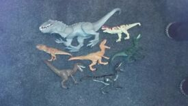 Jurassic world dinosaurs excellent condition large dinosaur worth 50-00