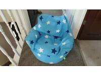 Blue star bean bag chair