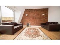 **2 BED FLAT** PRIVATE BALCONY! ROOF TERRACE! EXPOSED BRICKWORK! FURNISHED! HOLLOWAY, HORNSEY, N19!