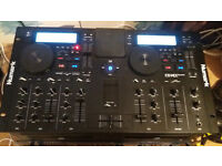 Numark Dual Cd mixer/Bluetooth IMG stage line 400watt amp and speakers with stands