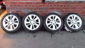 """17"""" ORIGINAL RENAULT ALLOY WHEELS AND TYRES SET OF 4"""