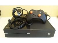 TEXT ONLY! Microsoft Xbox One 500gb Console System Working with games installed & custom controller.