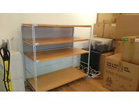 Muji Beech (very rare) and Steel Shelving - various parts - build your perfect shelves!