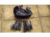 """SFR """"Milan"""" Fixed Size Inline Skates Black Red UK 7 EUR 41 + SFR Bag"""
