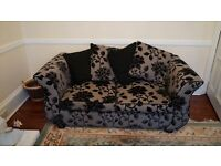 Matching DFS suite comprising 4 seater sofa, 3 seater sofa bed and footstool