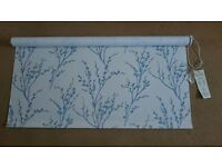 Laura Ashley Pussy Willow Roller Blind - Brand New, 110 x 150cm, Blue and Cream