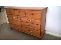 Bedroom sideboard with draws solid wood ..Good condition buyer must collect..
