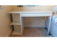 White Desk, Exellent Condition, Plenty of Storage!