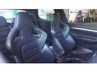 Recaro Wingback seats Mk5 Golf Gti R32 Vw.