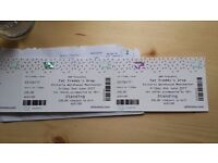 2 x Fat Freddys Drop tickets Manchester 2nd June