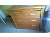 Stunning solid Oak Mamas and Papas changing unit and drawers from Ocean range