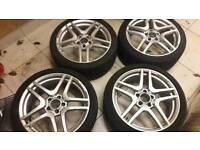18 inch Mercedes alloy wheels