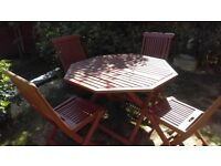 Garden table and four chairs ,