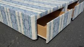 EX SHOP DEMO 4ft6 double divan devan bed base only with 4 storage drawers